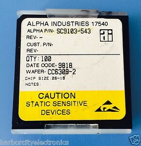 Sc9103 543 Alpha Industries Capacitor Chip Rf Microwave Product 100 units Total