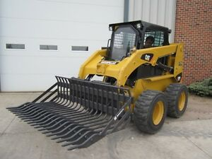 Bradco 75 Skid Steer Loader Rock Bucket Attachment With 3 Tine Spacing New