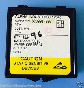 Sc9001 006 Alpha Industries Capacitor Chip Rf Microwave Product 93 units Total