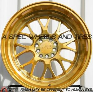 18x10 5 20 F1r F21 5x114 3 Gold Rim Fit Civic Accord Altima 240sx S13 14 5x4 5