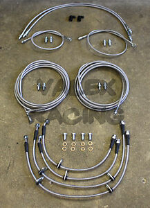 Complete Front Rear Brake Line Replacement Kit 92 95 Honda Civic W Rear Disc