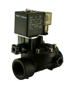 1 Inch Electric Plastic Manual Override Air Gas Water Solenoid Valve Nc 110v Ac