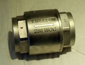 Stainless Steel 304 In line Check Valve 1 1 2 200 Wog cf8m New