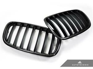 New Real Carbon Fiber Replacement Front Grille For 07 13 Bmw X5 X5m X6 X6m