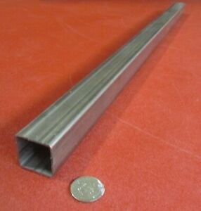 304 Stainless Steel Square Tube 1 1 2 Sq X 083 Wall X 36 Inch Length