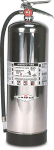 Amerex Water Stored Pressure Fire Extinguisher Model 240 2 1 2 Gal hose
