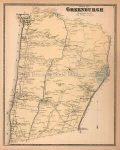 Town Of Greenburgh New York Antique Map Beers 1867 Original