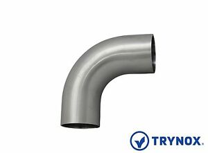 90 Degree Sms 4 Elbow straight Ends 304 Sanitary Stainless Steel Trynox