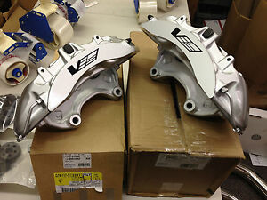 2009 12 Cadillac Cts V Gm Oem Brembo Silver 6 Piston Front Calipers Only Pair