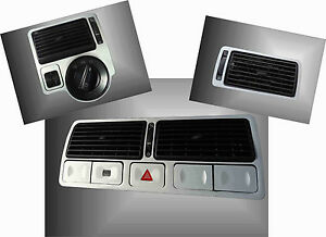 Vw Golf Mk4 Jetta Dashboard Dash Brushed Aluminium Air Vents Tdi Gti R32 Vr6 Ve