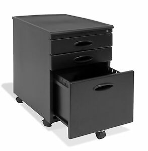 Office Furniture File Cabinet Compact Storage Organizer Casters Drawer Locking