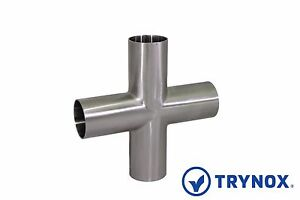 3 Sanitary Sms Welding Equal Cross 316l Stainless Steel Trynox