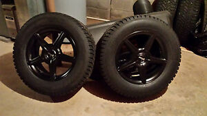 Snow Tires 245 65 R17 On Rims 11 32 Tread Rims Have Never Been Mounted