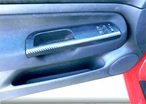 Vw Golf Mk4 Black Carbon Fibre Effect Grab Handle Trim 2 Door Tdi Gti R32 08