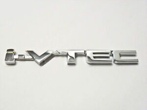 For Honda I vtec Emblem Silver Ivtec Logo Badge Sticker Trunk Rr 3m Tape Jdm New