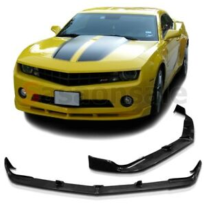 Made For 2010 2013 Chevy Camaro Lt Ls V6 Only Stl Style Usdm Front Pu Bumper Lip
