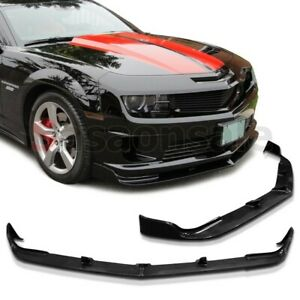 Made For 2010 2013 Chevy Camaro Ss V8 Only Stl Style Usdm Front Bumper Lip Pu