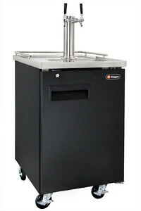 Kegco Commercial Grade Homebrew Kegerator Dual Tap Keg Dispenser Black
