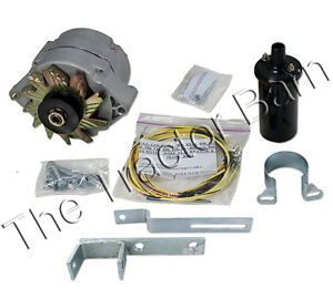 Ford Golden Jubilee Naa Alternator Generator Conversion Kit 12 6 Volt Battery