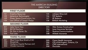 Digital Building Directories In Offices Firms Companies Departments Bureaus