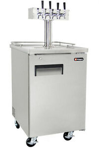 Kegco Commercial Grade Homebrew Kegerator Four Tap Keg Dispenser Stainless Steel