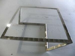Milo Baughman Attributed Z Shape 1970 S Large Chrome Glass Coffee Table
