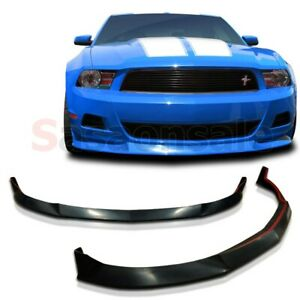 Fit For 10 12 Ford Mustang V6 Stl Style Front Valance Pu Bumper Spoiler Lip