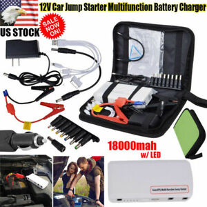 12v 18000mah Multi Function Car Jump Starter Battery Charger Power Bank Booster