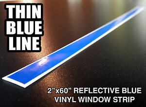 2x60 Thin Blue Line Windshield Strip Window Decal Sticker Police Lives Matter