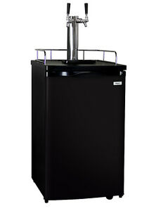 Kegco Full size Homebrew Kegerator Dual Tap Ball Lock Keg Dispenser Black