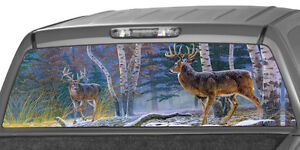 Deers In A Forest Window Graphic Tint Decal Sticker Truck Jeep Suv Hunting Camo