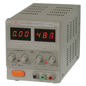 Hy3005 150 Watt Digital Single Output Benchtop Power Supply 30vdc 5a 2 Displays