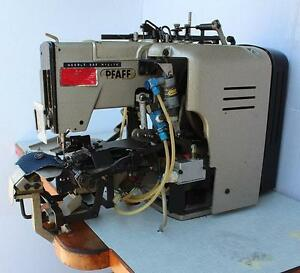 Pfaff 3306 Industrial Button Sewing And Wrapping Machine W Table And Motor 220v