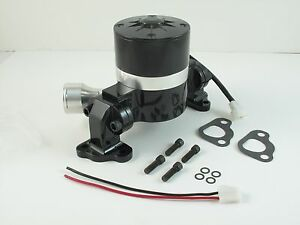 Electric Water Pump Flows 35 Gpm Black Powder Coated For Ford Sbf