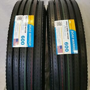 2 Tires 11r22 5 H 16 146 143m New Steer Truck Tires 11225 600