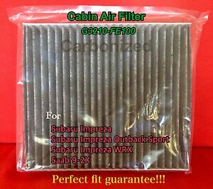 C25855 For Impreza Outback Sport Wrx 02 07 Charcoal Carbon Cabin Air Filter