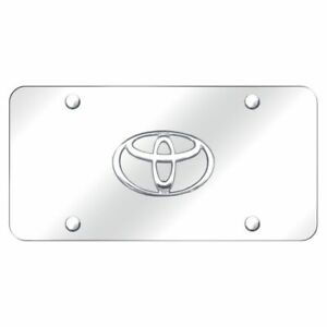 Toyota Logo 3d Chrome Front License Plate Stainless Steel Trd Novelty