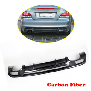 Carbon Rear Diffuser Lip Dual Outlet For Bmw E82 E88 125i 135i M Sport 07 13