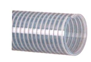 Clear Pvc Water Suction Hose Assembly 1 X 20 Unplated Steel M npt Fittings