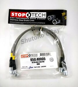 Stoptech Stainless Steel Braided Front Brake Lines For 98 07 Honda Accord