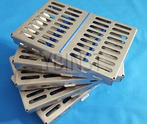 10 Dental Surgical Autoclave Sterilization Cassette Racks Box For 10 Instruments