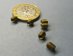 Brass Set Screws Cup Point 8 32 X 3 16 Length 100 Pieces
