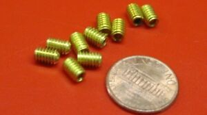 Brass Set Screws Cup Point 8 32 X 1 4 Length 100 Pieces