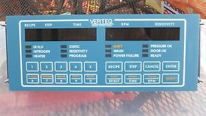 Verteq 1800 6ar Control Panel Display From Intel Semiconductor 9200 Wet Bench