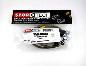 Stoptech Stainless Steel Front Brake Lines For 08 14 Honda Accord 2dr 4dr