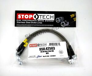 Stoptech Stainless Steel Rear Brake Lines For 03 13 Infiniti G35 G37