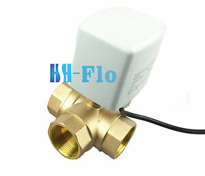 New 1 1 4 Dn32 Brass 3 Way 24v 220vac Motorized Ball Valve Electrical Valve