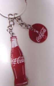 Coca-Cola Bottle 100 years Red Keychain - NEW FREE SHIPPING