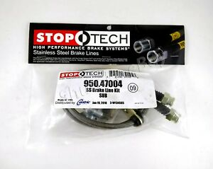 Stoptech Ss Stainless Steel Front Brake Lines For 04 07 Subaru Impreza