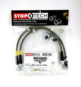Stoptech Ss Stainless Steel Front Brake Lines For 99 03 Mazda Protege Protege5